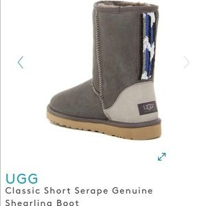 UGG classic short serape beaded boot size 5